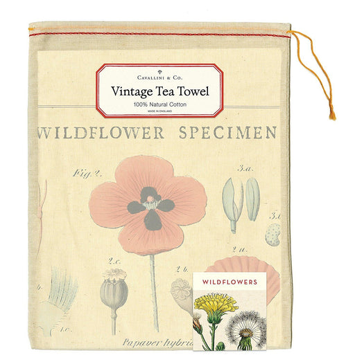 Wildflowers Tea Towel - Cavallini Papers & Co. Inc - The Shops at Mount Vernon