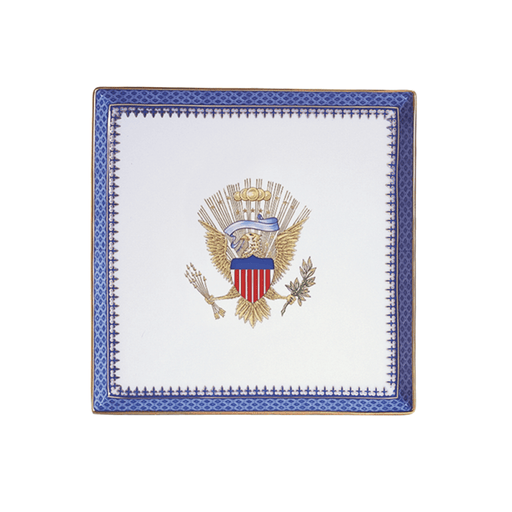 Indigo Wave Eagle Square Plate - MOTTAHEDEH & COMPANY, INC - The Shops at Mount Vernon