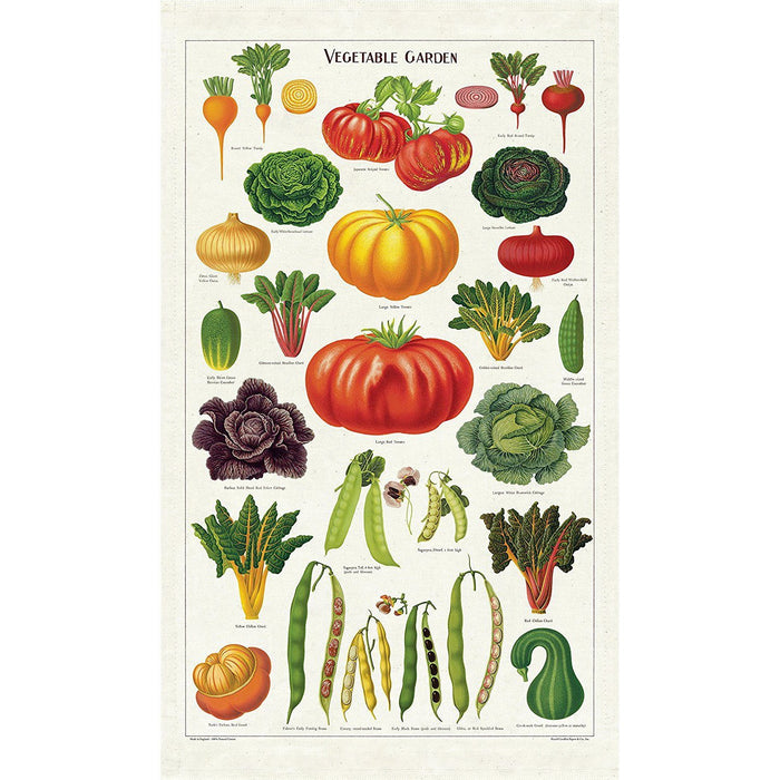 Vegetables Tea Towel - Cavallini Papers & Co. Inc - The Shops at Mount Vernon