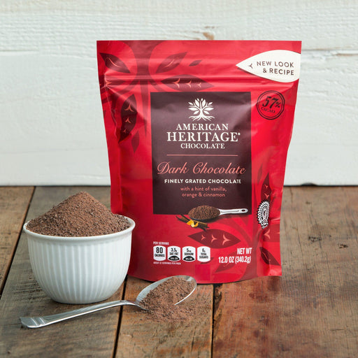 American Heritage Chocolate Finely Grated Dark Chocolate - FIRST SOURCE, LLC - The Shops at Mount Vernon