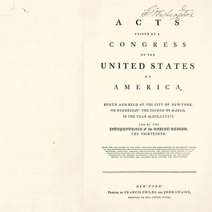 Acts of Congress 1789: Special Edition - The Shops at Mount Vernon - The Shops at Mount Vernon