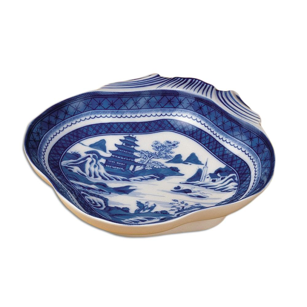"Blue Canton 8 ¼"" Shell Dish by Mottahedeh - The Shops at Mount Vernon - The Shops at Mount Vernon"