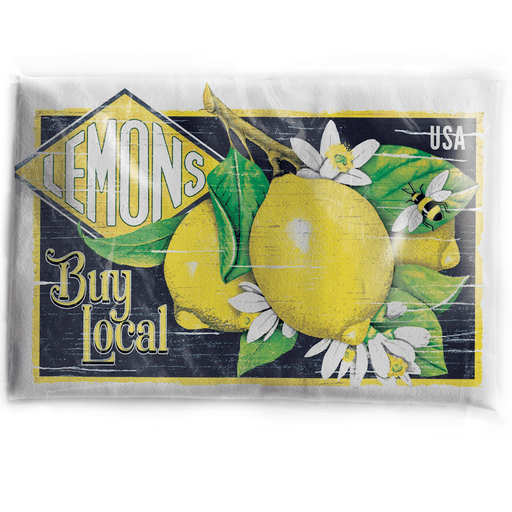 Lemons Crate Label Towel - MARY LAKE-THOMPSON LTD - The Shops at Mount Vernon