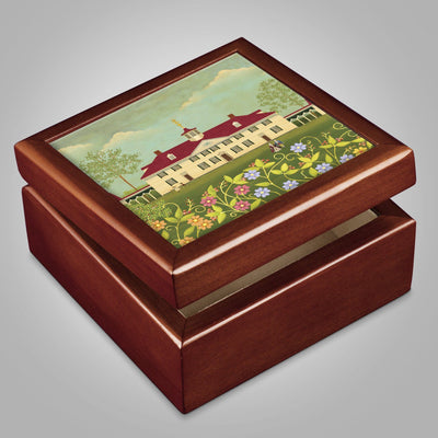 Mount Vernon Folk Art Keepsake Box