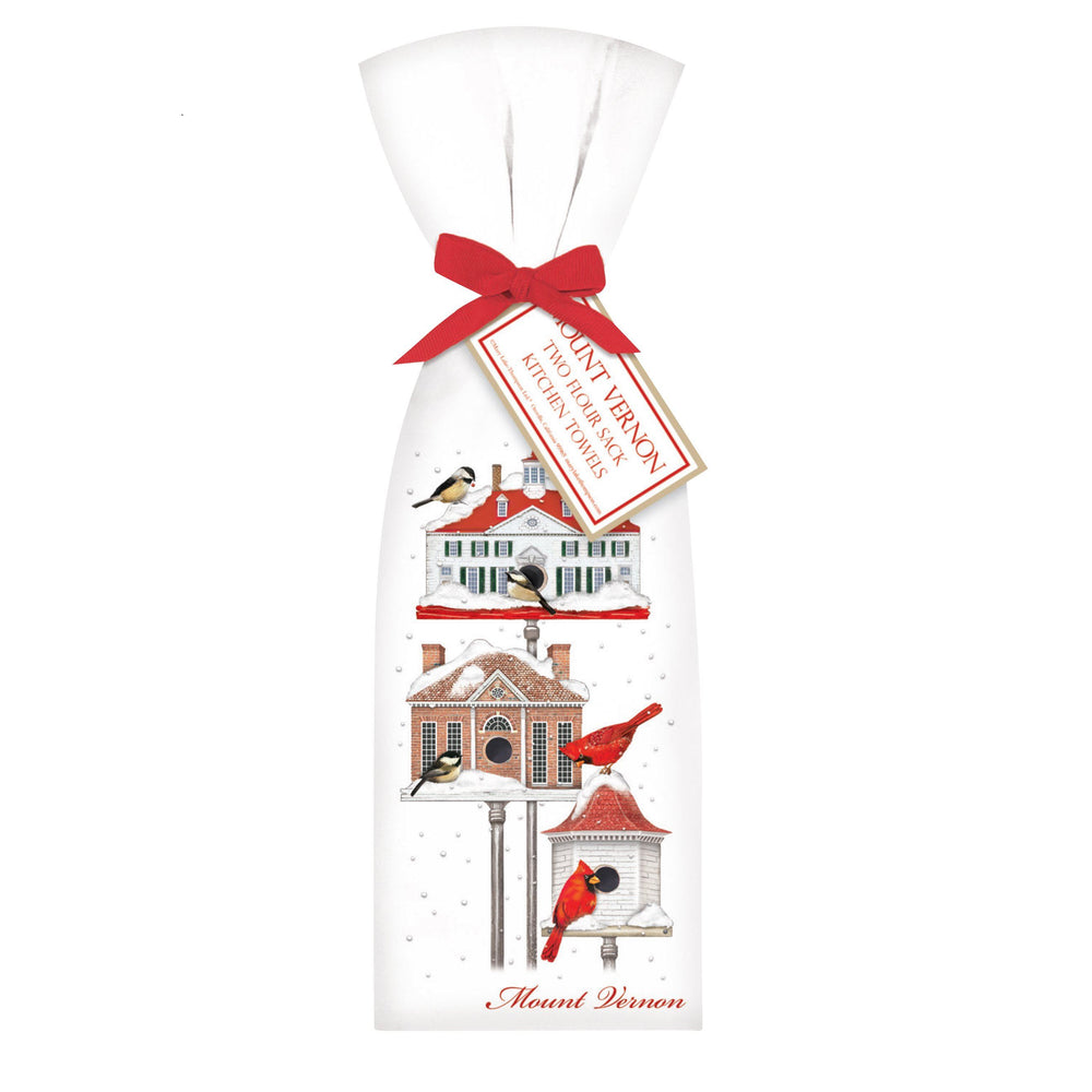 Winter Bird House Towel Set - MARY LAKE-THOMPSON LTD - The Shops at Mount Vernon