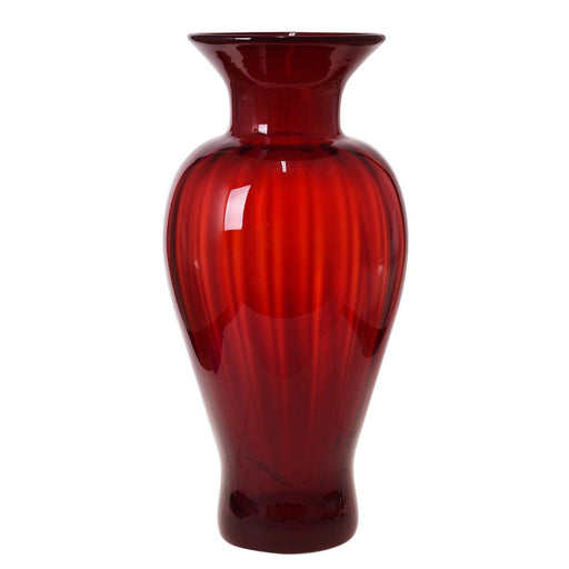 Ruby Red Optic Vase - BLENKO GLASS COMPANY - The Shops at Mount Vernon