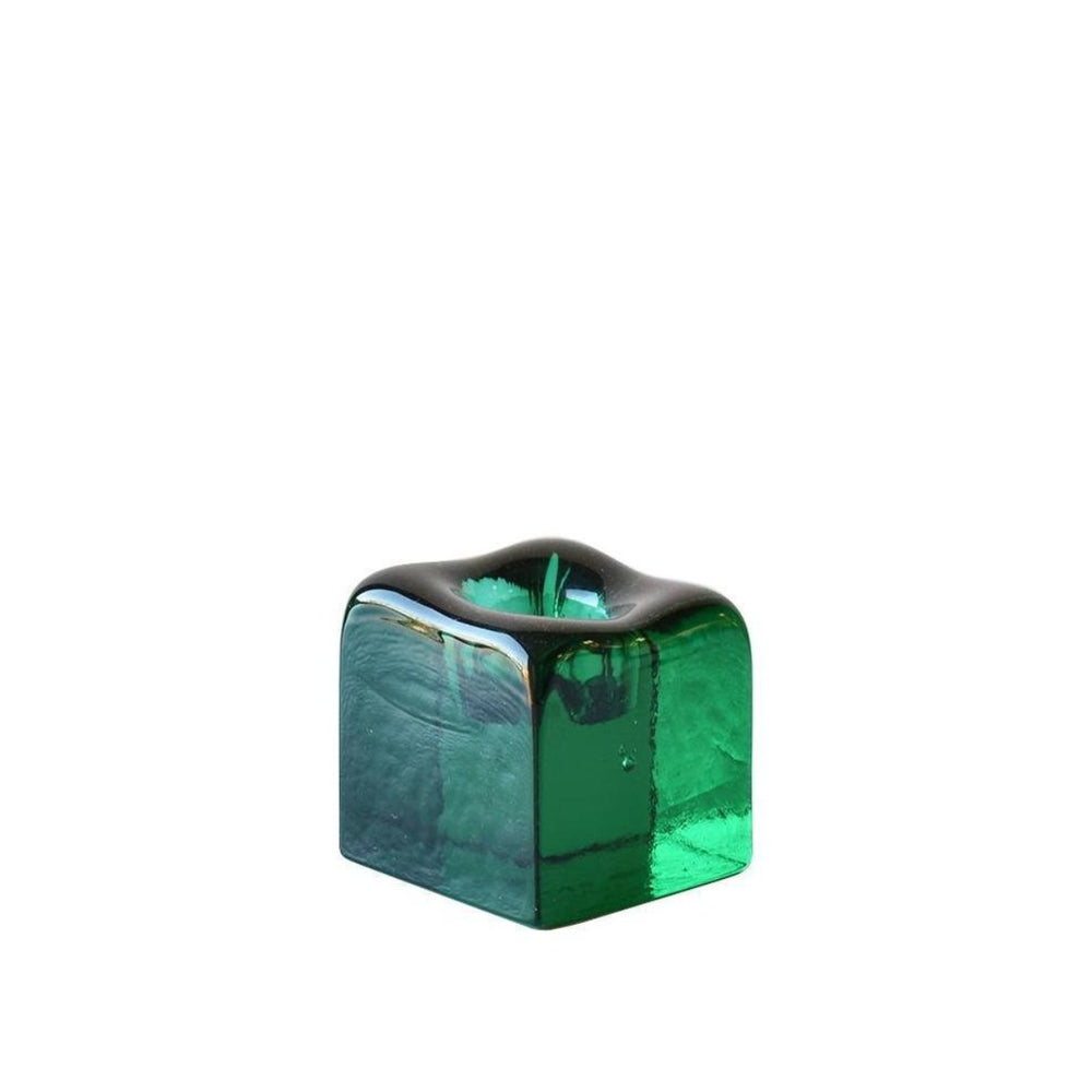Mint Green Small Candle Holder - BLENKO GLASS COMPANY - The Shops at Mount Vernon