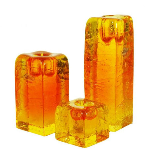 Paw Paw Small Candle Holder - BLENKO GLASS COMPANY - The Shops at Mount Vernon