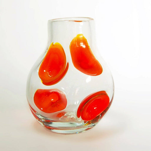 Clear & Paw Paw Dollop Vase - BLENKO GLASS COMPANY - The Shops at Mount Vernon