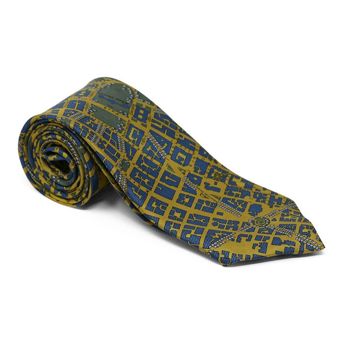 Washington DC Tie Blue and Gold - JOSH BACH LIMITED - The Shops at Mount Vernon