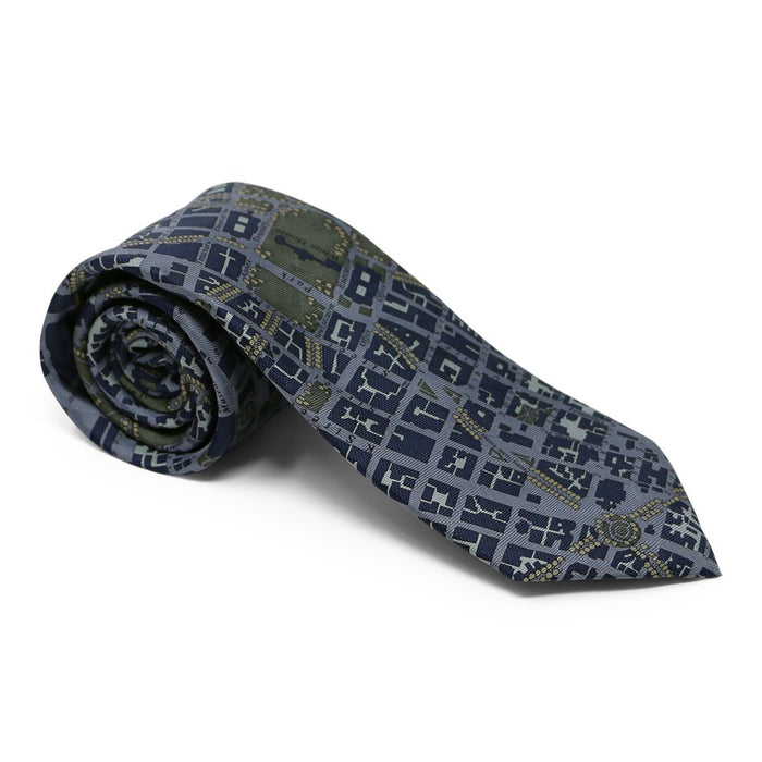 Washington DC Tie Blue and Gray - JOSH BACH LIMITED - The Shops at Mount Vernon
