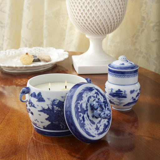 Blue Canton Heirluminare Fu Dog Vessel - MOTTAHEDEH & COMPANY, INC - The Shops at Mount Vernon