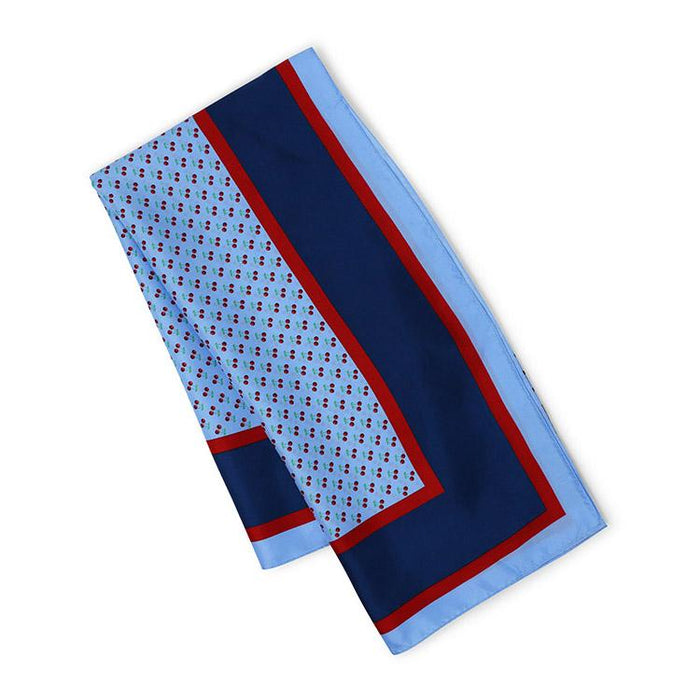 Vineyard Vines Cherries Silk Scarf in Light Blue - The Shops at Mount Vernon - The Shops at Mount Vernon