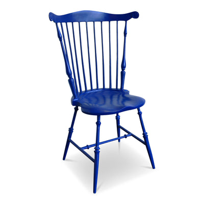 Mount Vernon Canton China Blue Fan Back Windsor Chair