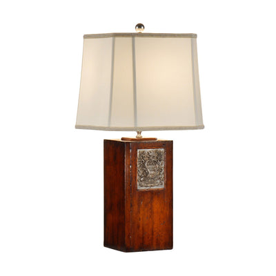 George Washington Pewter Bookplate Lamp