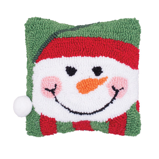 Happy Snowman Hooked Mini Pillow - C & F ENTERPRISE - The Shops at Mount Vernon