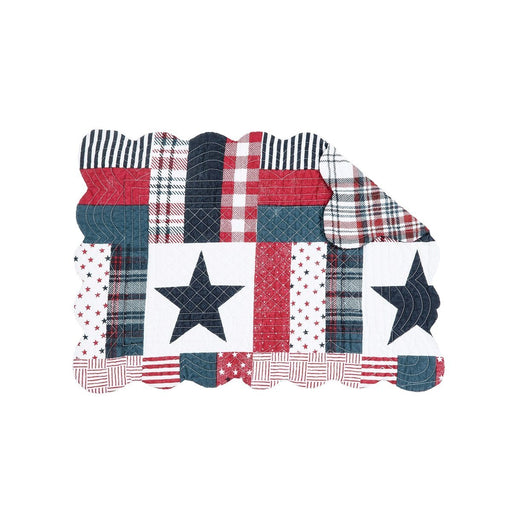 Red, White and Blue Quilted Rectangular Placemat - C & F ENTERPRISE - The Shops at Mount Vernon