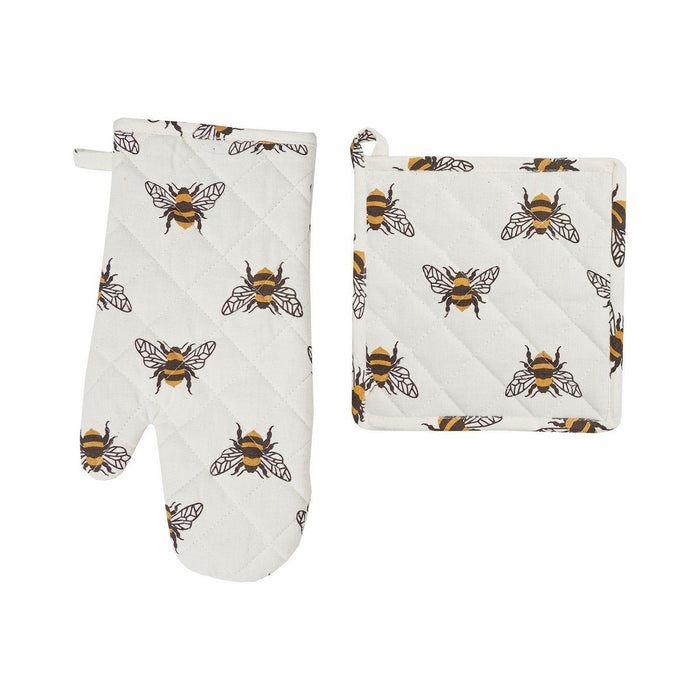 Bumble Bee Pot Holder/Oven Mitt Set - C & F ENTERPRISE - The Shops at Mount Vernon