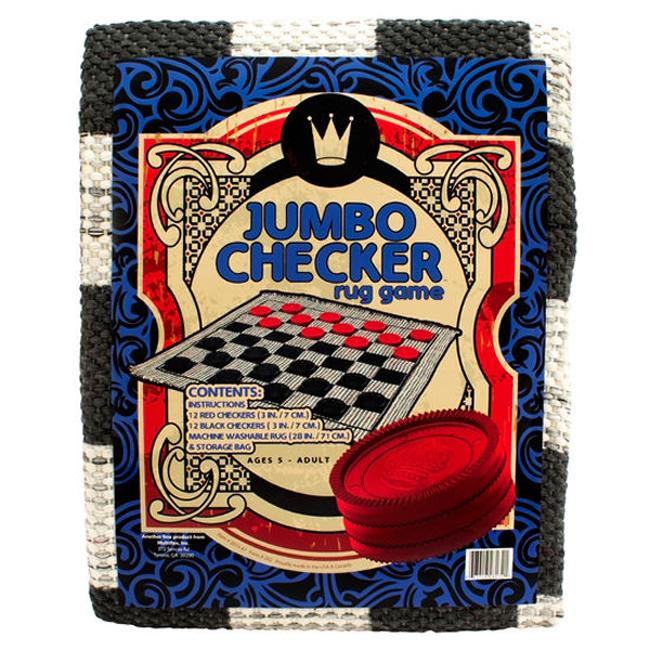 Jumbo Checkers on Rug