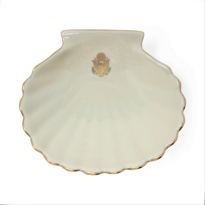 Ivory Shell Dish with Great Seal - Pickard China - The Shops at Mount Vernon