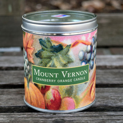 Mount Vernon Cranberry-Orange Scented Candle
