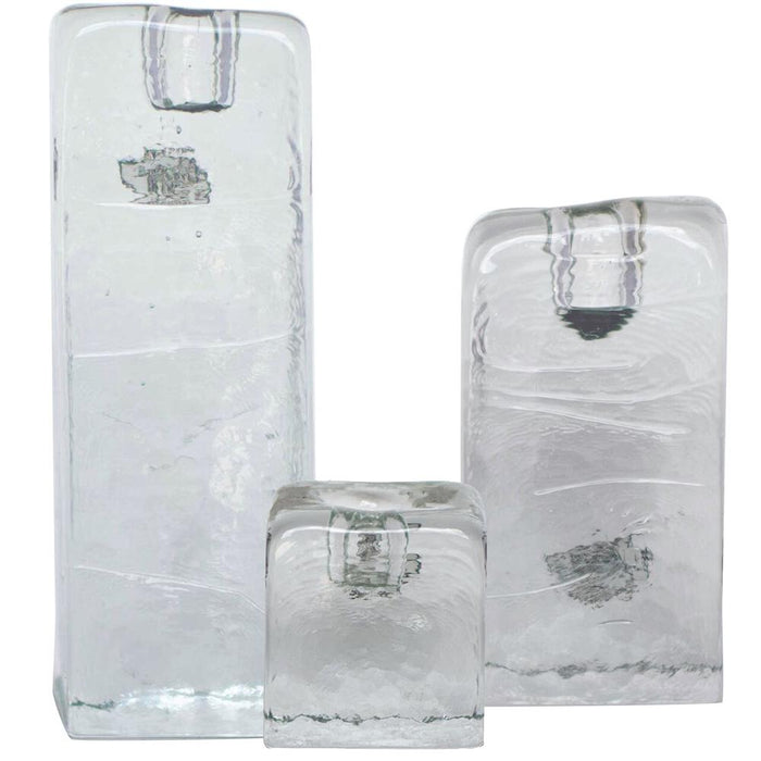 Crystal Medium Candle Holder - BLENKO GLASS COMPANY - The Shops at Mount Vernon