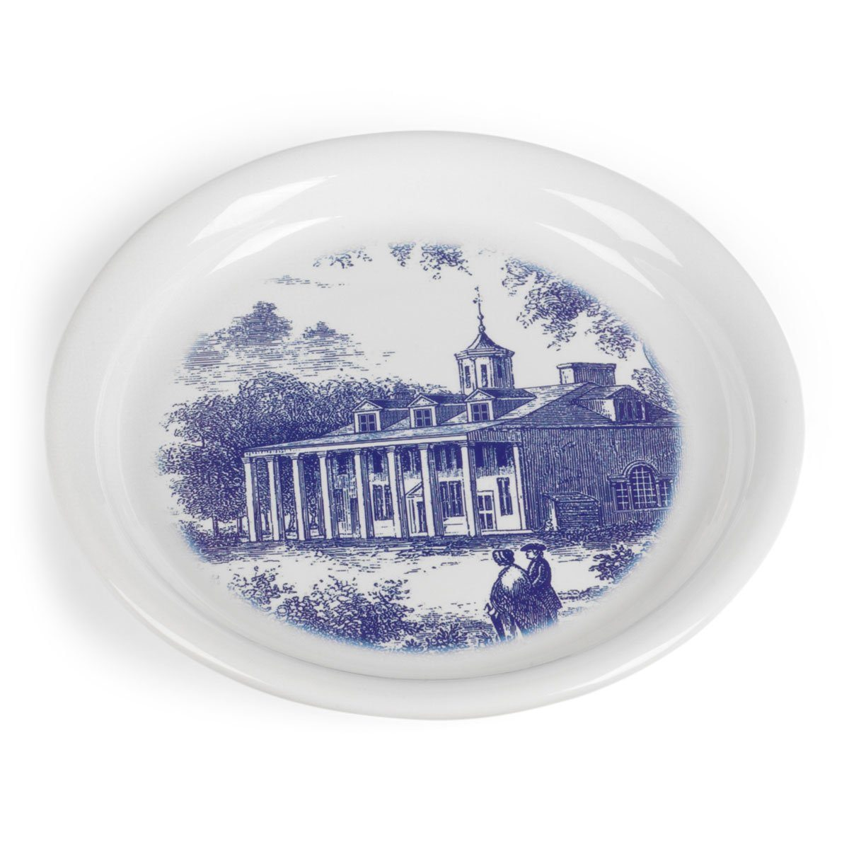 Blue and White East View Toile Wine Coaster