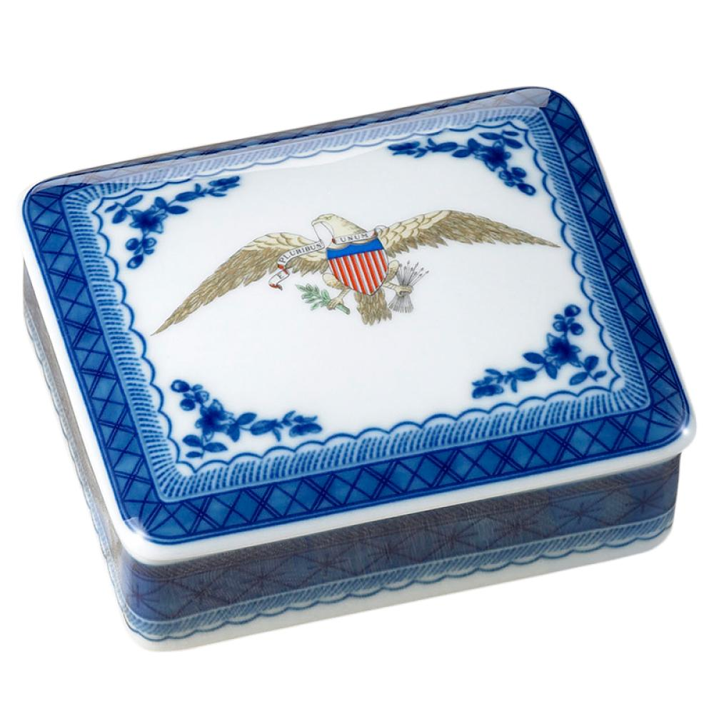 Diplomatic Eagle Covered Box by Mottahedeh