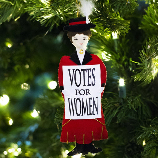 Red Suffragette Ornament - ST NICOLAS LTD. - The Shops at Mount Vernon