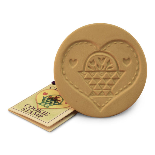 Quilted Basket Heart Cookie Stamp - The Shops at Mount Vernon - The Shops at Mount Vernon