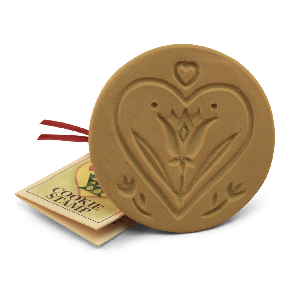 Heart and Tulip Cookie Stamp - The Shops at Mount Vernon - The Shops at Mount Vernon