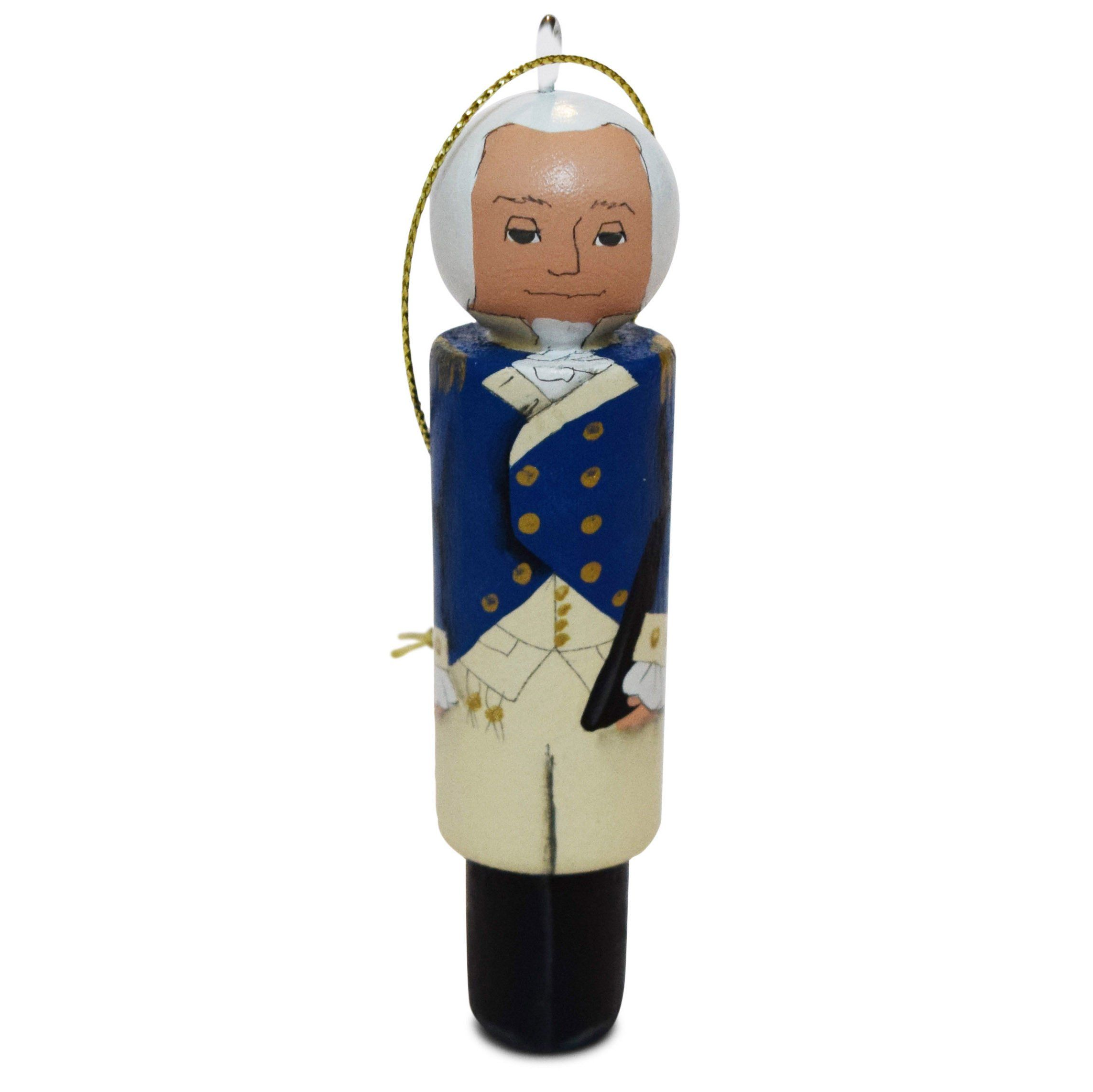 Handmade George Washington Ornament
