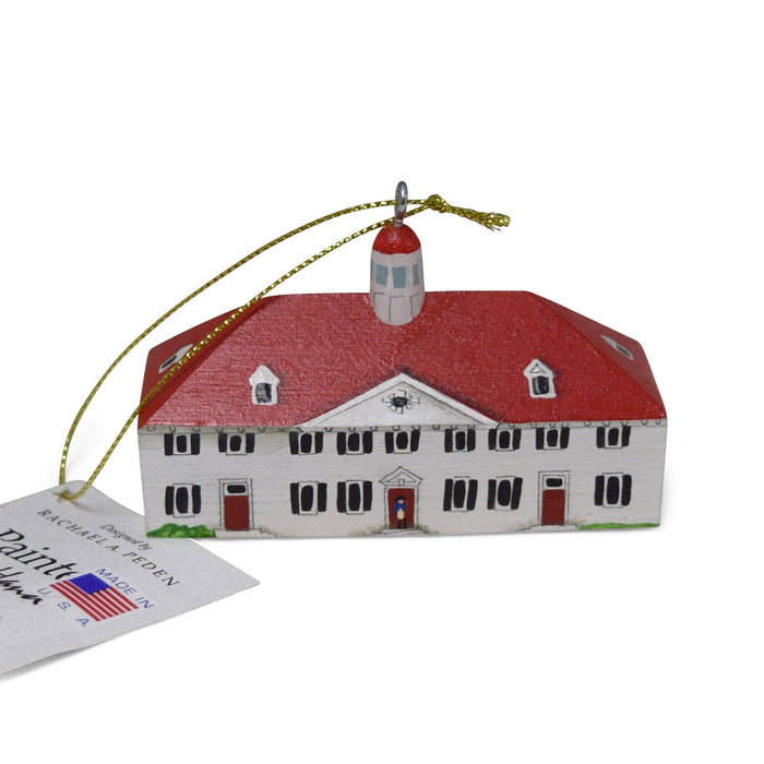 Handmade Mount Vernon Mansion Ornament - RACHAEL A. PEDEN - The Shops at Mount Vernon