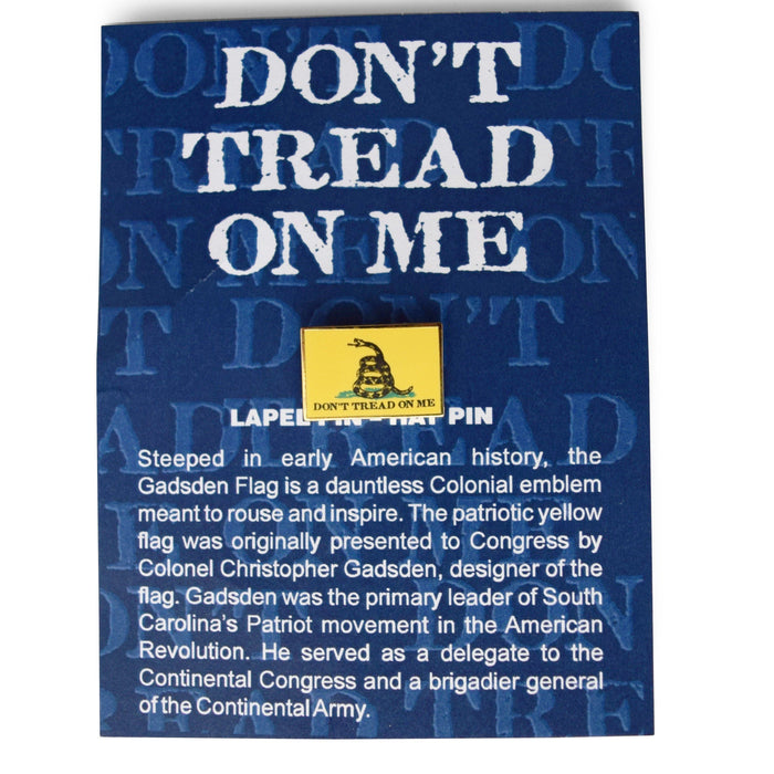 Don't Tread on Me Lapel Pin - The Shops at Mount Vernon - The Shops at Mount Vernon