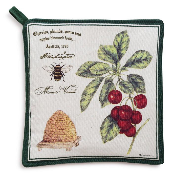 Bee and Cherries Potholder - The Shops at Mount Vernon - The Shops at Mount Vernon