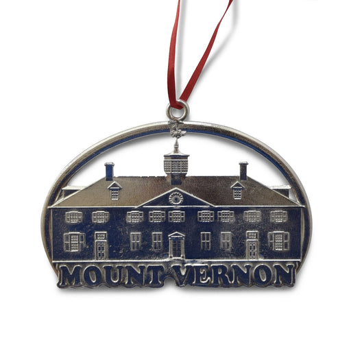 Pewter Mount Vernon Mansion Ornament - The Shops at Mount Vernon - The Shops at Mount Vernon