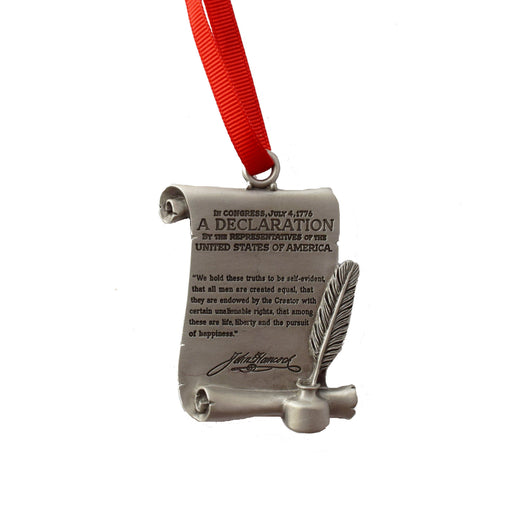 Pewter Declaration of Independence Ornament - The Shops at Mount Vernon - The Shops at Mount Vernon