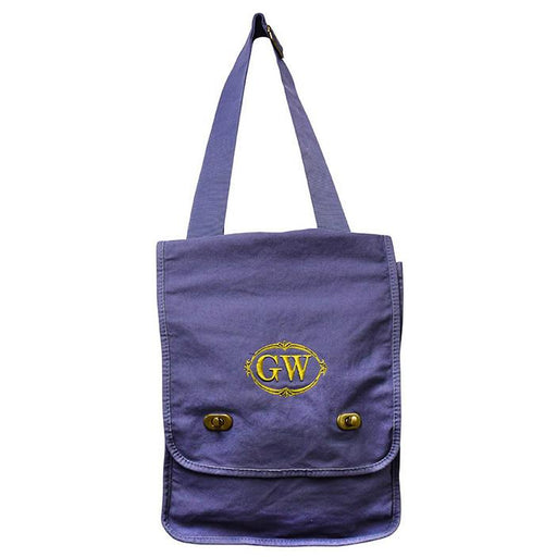 GW Canvas Messenger Bag - The Shops at Mount Vernon - The Shops at Mount Vernon