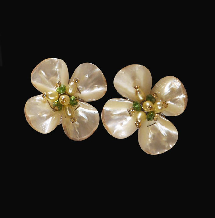 Dogwood Clip Earrings - Valerie Sanson - The Shops at Mount Vernon