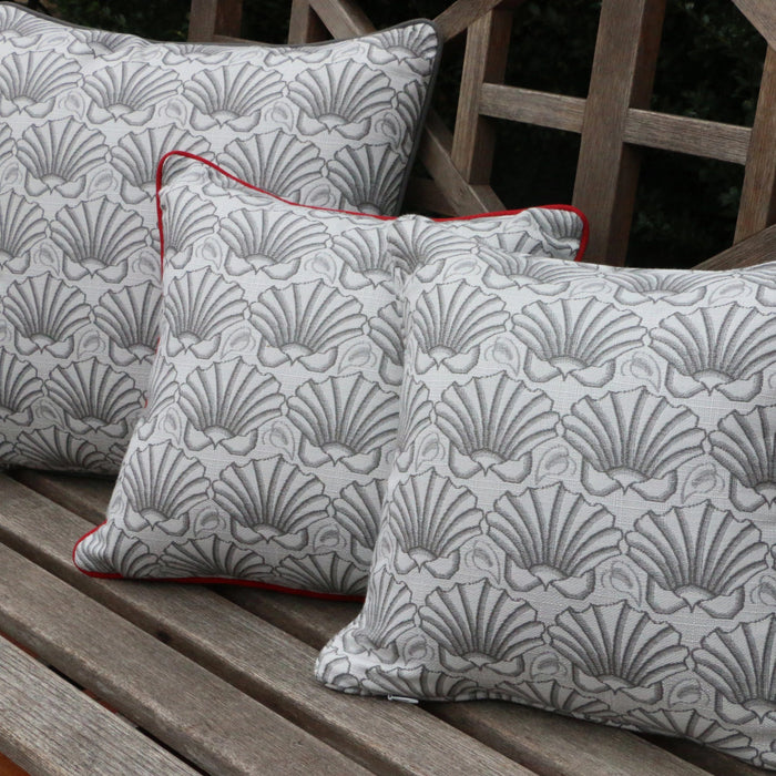 Martha's Shell Dove Gray Self-Welt Pillows - Three Coins Cast - The Shops at Mount Vernon