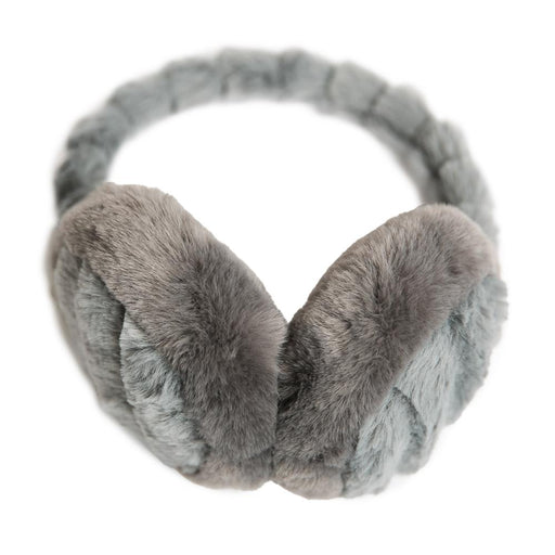 Gray Chinchilla Faux Fur Earmuff - TOP IT OFF - The Shops at Mount Vernon
