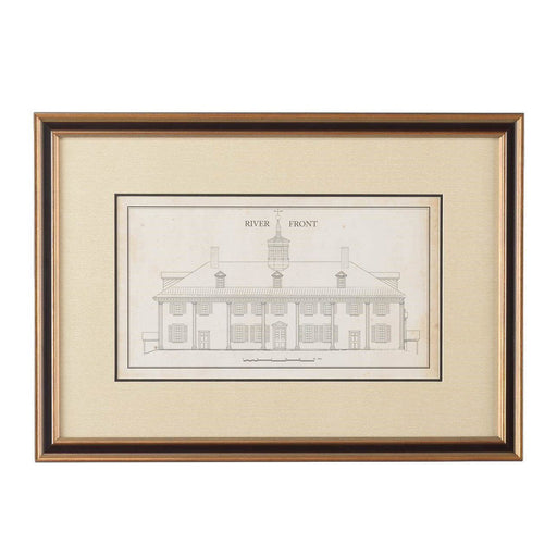 Mount Vernon East Front Measured Drawing Print - CHELSEA HOUSE - The Shops at Mount Vernon