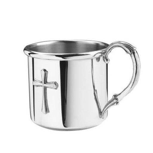 Easton Baby Cup with Cross - SALISBURY PEWTER - The Shops at Mount Vernon