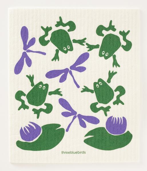 Frogs and Flies Dishcloth - THREE BLUEBIRDS - The Shops at Mount Vernon