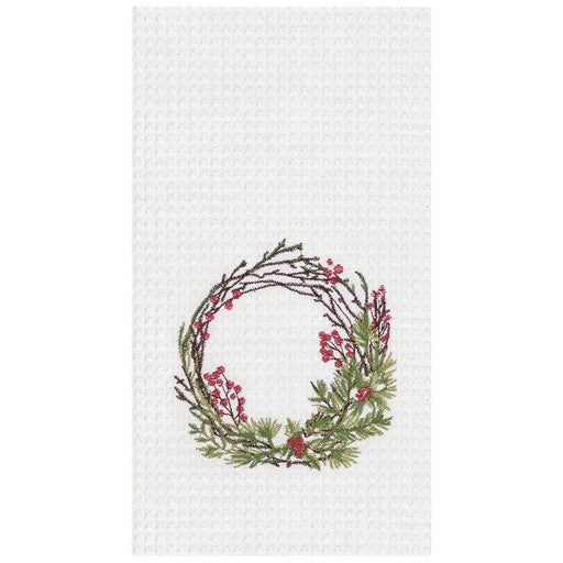 Festive Wreath Towel - C & F ENTERPRISE - The Shops at Mount Vernon