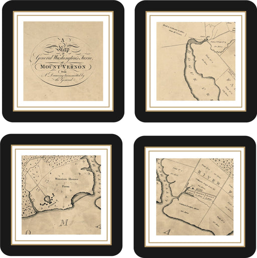 George Washington's Five Farms Set of Four Coasters - The Shops at Mount Vernon - The Shops at Mount Vernon