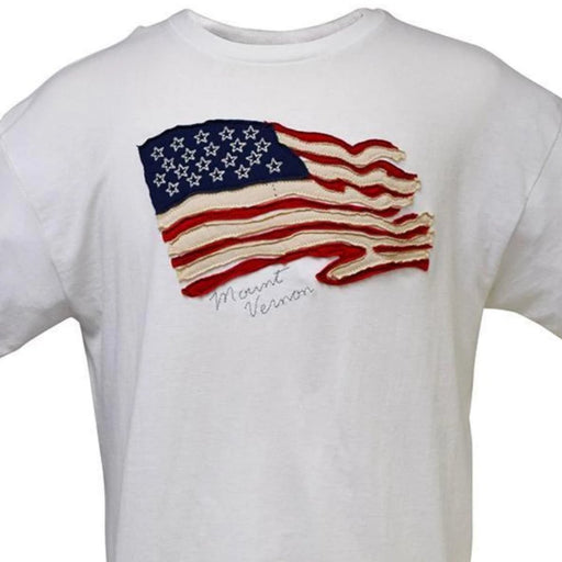 Mount Vernon Appliquéd Flag T-Shirt - The Shops at Mount Vernon - The Shops at Mount Vernon