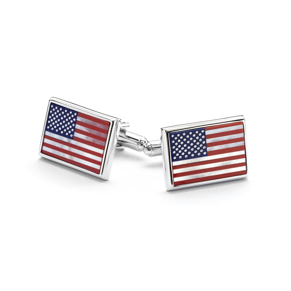 American Flag Cufflinks - The Shops at Mount Vernon - The Shops at Mount Vernon