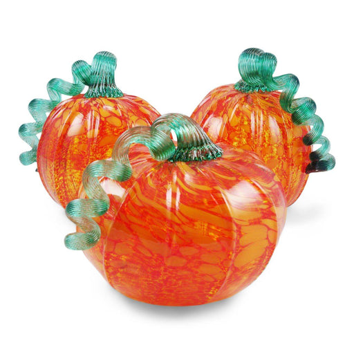 Orange Foliage Pumpkin - LUKE ADAMS HANDBLOWN GLASS - The Shops at Mount Vernon