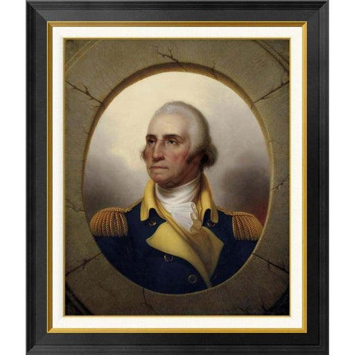 Washington Porthole Portrait:  Medium Print - BENTLEY GLOBAL ARTS GROUP - The Shops at Mount Vernon